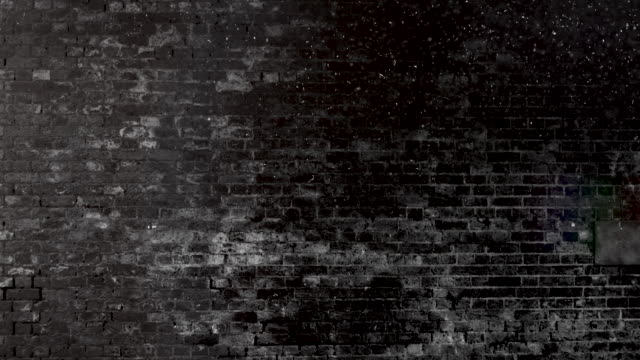 grunge black and white brick wall brackground. 4k stock video - brick stock videos & royalty-free footage