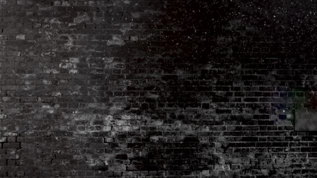 grunge schwarz und weiß ziegel wand brackground. 4k stock video - wand stock-videos und b-roll-filmmaterial