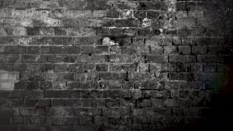 grunge black and white brick wall brackground. 4k stock video - concrete stock videos & royalty-free footage