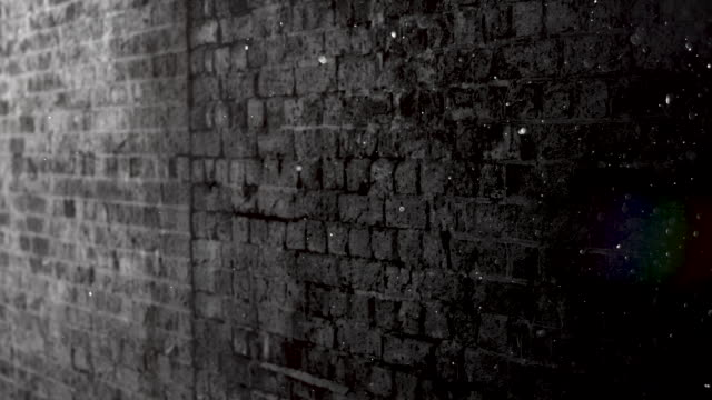 grunge black and white brick wall brackground. 4k stock video - wall building feature stock videos & royalty-free footage