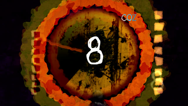 grunge countdown - imperfection stock videos and b-roll footage
