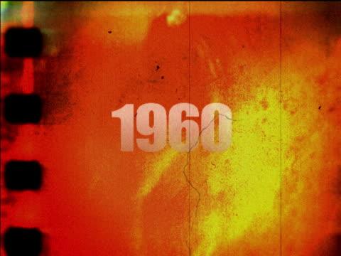 Grunge film negative 1960