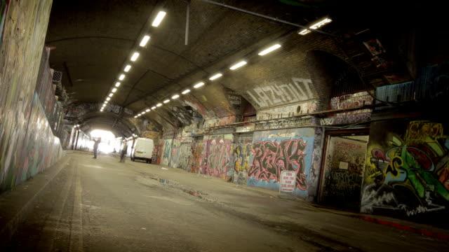 Grunge Graffit Tunnel time-lapse. HD