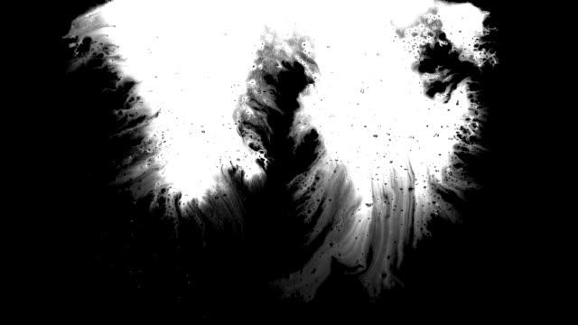 グランジインクの縞が画面上を流れる - はけ筋点の映像素材/bロール