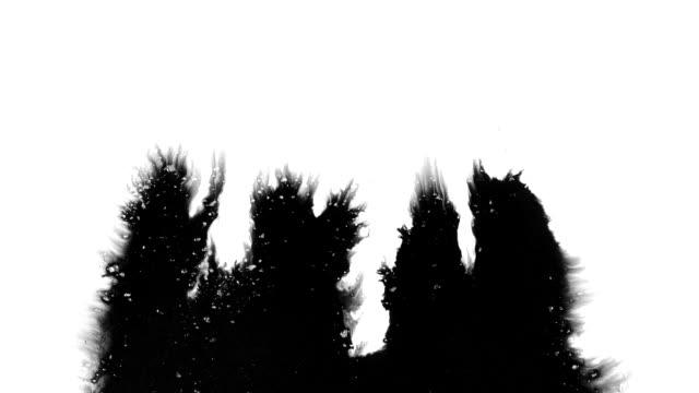 grunge ink streaks flow across the screen - watercolor painting stock videos & royalty-free footage
