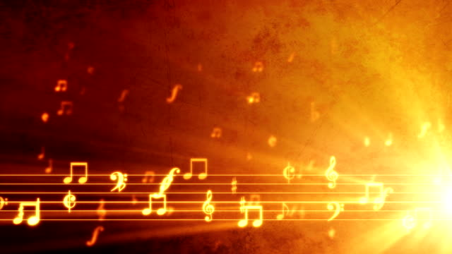 grunge music background orange - musical note stock videos & royalty-free footage