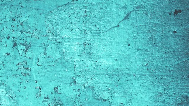 4k grunge noise random blue wall texture background in stop motion - turquoise colored stock videos & royalty-free footage
