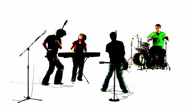 Grunge Rock Band Silhouette