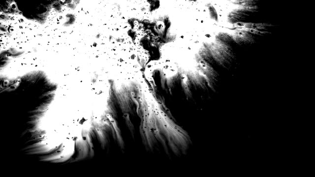 grunge set ink flows on a dirty surface - brush matte stock videos & royalty-free footage