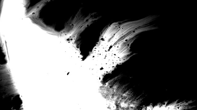 grunge set ink flows on a dirty surface - art stock videos & royalty-free footage