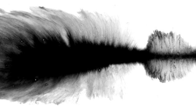 stockvideo's en b-roll-footage met grunge stel inkt stromen op een vuil oppervlak - poreus