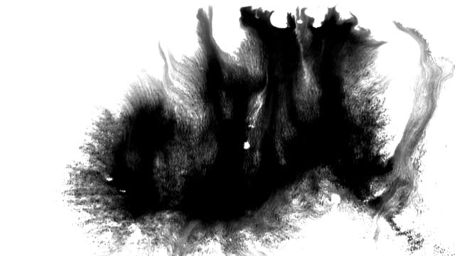 grunge set ink flows on a dirty surface - splattered stock videos & royalty-free footage