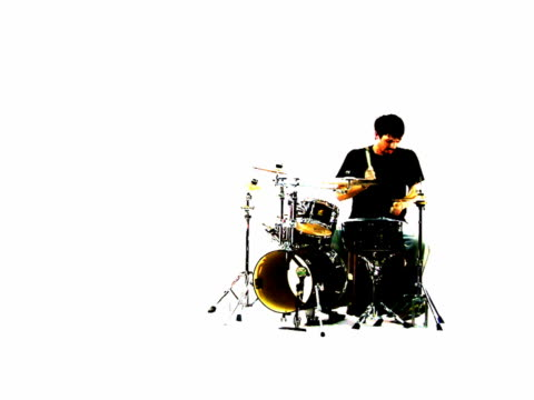 grunge silhouette of a drummer - drummer stock videos & royalty-free footage