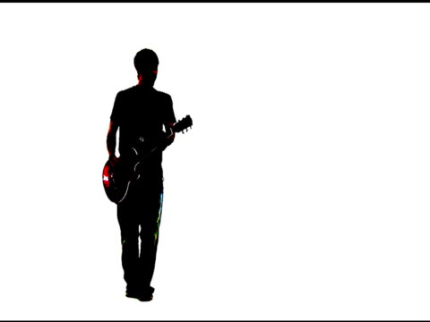 grunge style lead guitarist - rock object stock videos & royalty-free footage