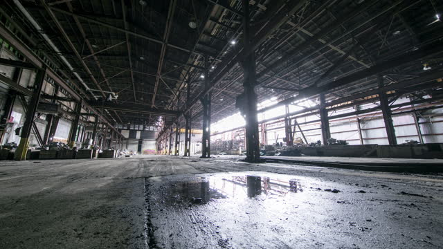 grungy abandoned factory - absence stock videos & royalty-free footage