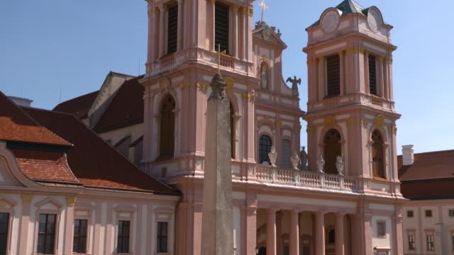 göttweig abbey - krems/austria (aerial shot 4k) - sehenswürdigkeit stock-videos und b-roll-filmmaterial