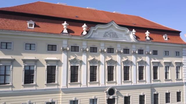 göttweig abbey - krems/austria (aerial shot 4k) - western script stock videos & royalty-free footage