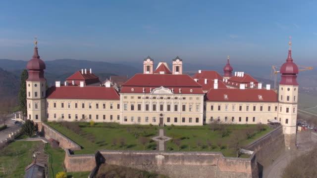 göttweig abbey - krems/austria (aerial shot 4k) - circa 11th century stock videos & royalty-free footage