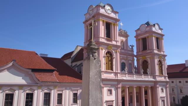 Göttweig Abbey - Krems/Austria (aerial shot 4K)