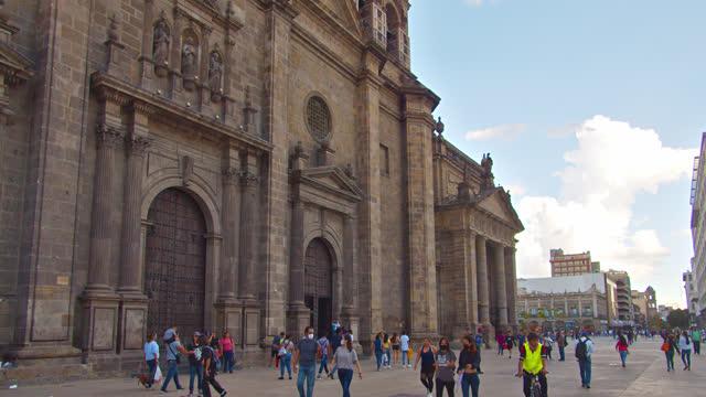 guadalajara. church. tourist walking street. - cathedral stock videos & royalty-free footage