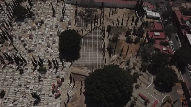 guadalajara, mexico's second largest town, digs 700 graves for a likely surge in the number of deaths from covid-19, following the example of other... - digging stock videos & royalty-free footage