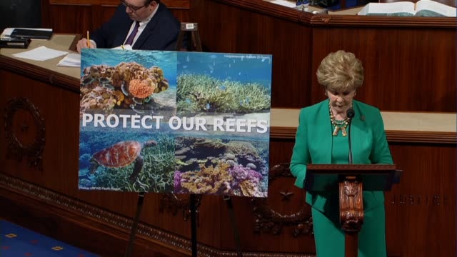Guam Delegate Madeleine Bordallo says that according to the national oceanic and atmospheric administration coral reefs support up to 12 percent of...