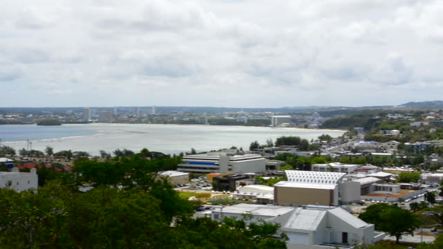 guam usa territory japanese cannons at fort santa aqueda on hill overlooking hagatna capital city - guam stock videos & royalty-free footage