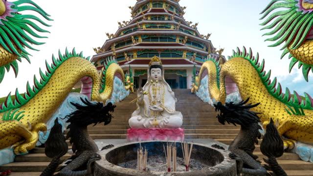 guan yin joss stick - guanyin bodhisattva stock videos & royalty-free footage