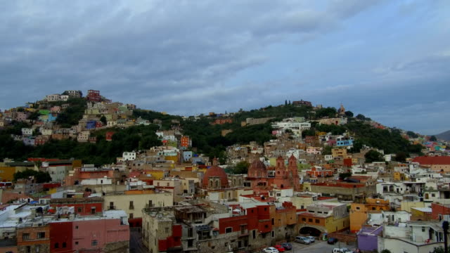 guanajuato city, mexico at blue hour - mexican culture stock videos & royalty-free footage