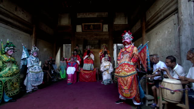 guangchang meng opera, a traditional local drama popular in guangchang county, jiangxi province, is one of the national intangible cultural heritage. - storytelling stock videos & royalty-free footage