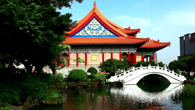 guanghua ponds - chiang kaishek memorial hall stock videos & royalty-free footage