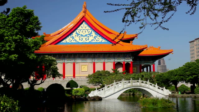guanghua ponds - chiang kaishek memorial hall stock videos and b-roll footage