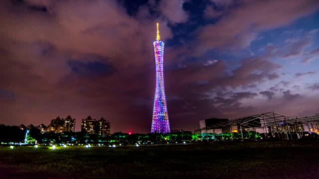 Guangzhou, China-Nov 23,2014: Walking around the famous Guangzhou Tower, Guangzhou, China