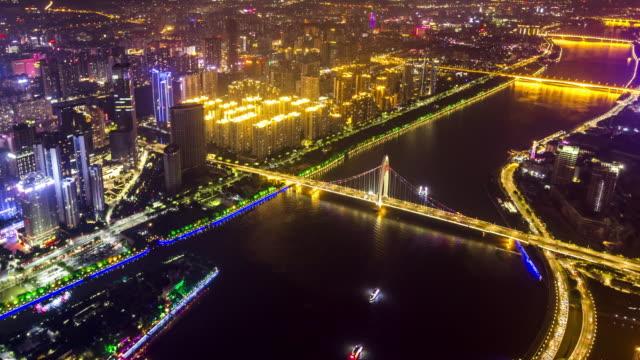Guangzhou pearl river time lapse