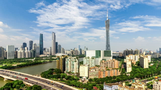 guangzhou skyline.timelapse - guangzhou stock videos & royalty-free footage