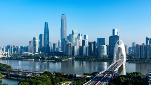 guangzhou skyline.timelapse/4k - guangzhou stock videos & royalty-free footage