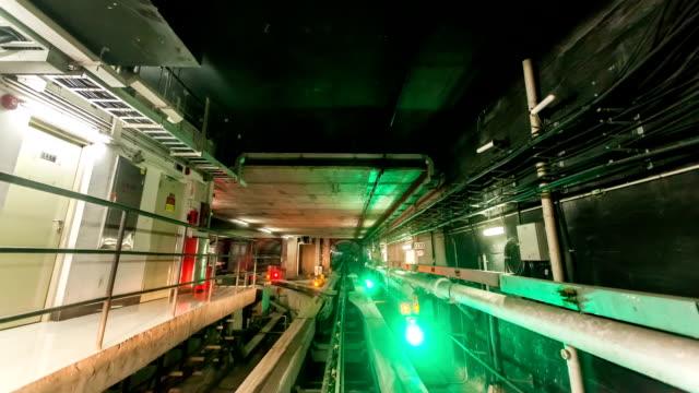 vídeos de stock, filmes e b-roll de t/l ws guangzhou tunnel / guangzhou, china - tunnel