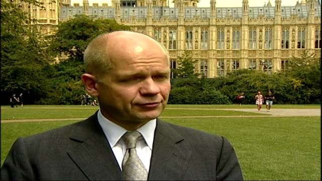 us considers request to free five british detainees london westminster ship and william hague william hague mp interview sot not huge range of... - will.i.am stock videos & royalty-free footage