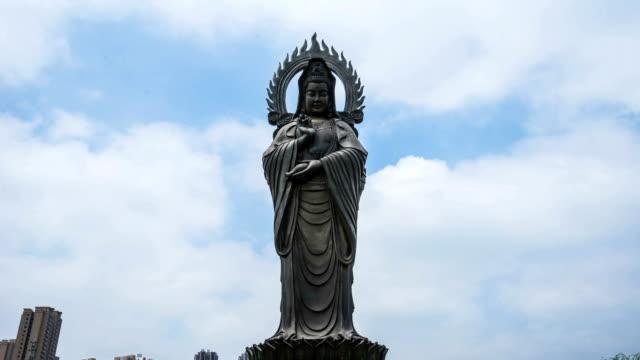 guanyin buddha statue - kivas stock videos & royalty-free footage