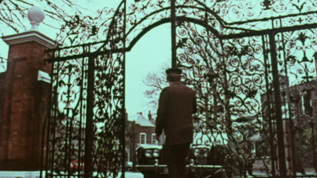 1967 la guard opening wrought iron gate for rolls royce / handsworth, west midlands, england - rolls royce stock videos and b-roll footage