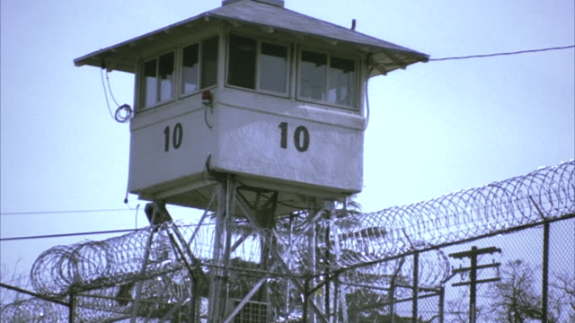 la cu guard tower at folsom state prison / folsom, california, usa - prison guard stock videos and b-roll footage