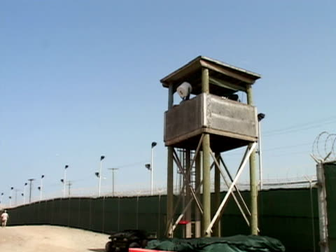 Guard tower overlooking Guantanamo Bay Naval Base and detention center/ Guantanamo Province Cuba