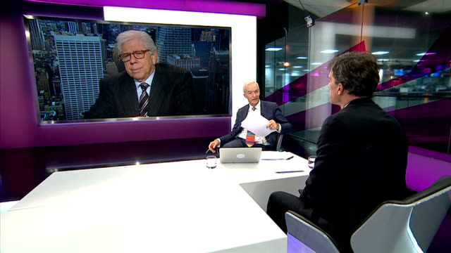 guardian editor defends publication of leaked documents to select committee; england: london: gir: int live 3-way interview with carl bernstein in... - skipton stock videos & royalty-free footage