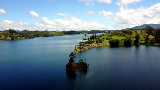 guatape lake, colombia - colombia stock videos & royalty-free footage