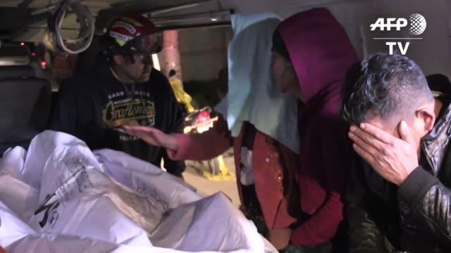 guatemala esta de luto tras la muerte de 18 personas la noche del miercoles luego de ser arrollados por un trailer de transporte pesado que se dio a... - luto stock videos and b-roll footage