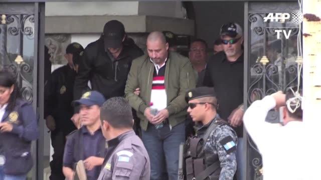 vídeos y material grabado en eventos de stock de guatemala extradito el miercoles a estados unidos al presunto narcotraficante marlon monroy alias el fantasma considerado por las autoridades como el... - ee.uu