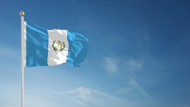 vídeos y material grabado en eventos de stock de 4 k-en bucle bandera de guatemala - elecciones