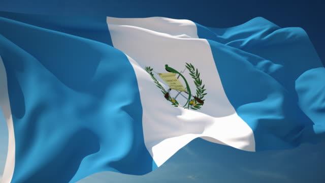 vídeos y material grabado en eventos de stock de bandera de guatemala - loopable - elecciones