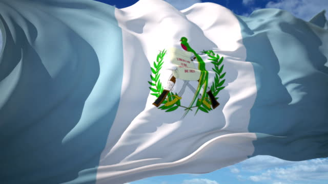 guatemala flag - guatemala stock videos & royalty-free footage