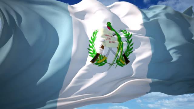 guatemala flag - guatemala stock videos & royalty-free footage